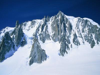 Montblanc, glacier covered with snow, France, Chamonix