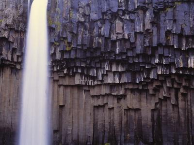 Iceland, Skaftafjell National Park, Svartifoss Waterfall