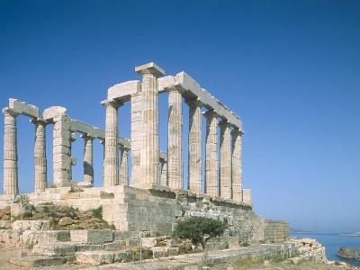 Poseidon Temple in the Sounion National Park, Greece, Attica