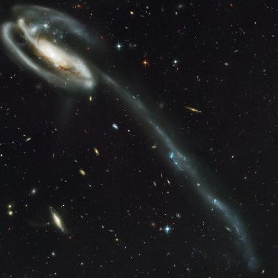 Galaxy with Trail of Stars