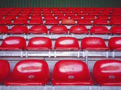 Rows of Empty Seats in Stadium