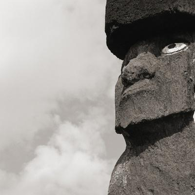 Low angle view of a Moai statue, Easter Island, Chile