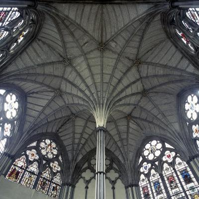 Fan Vaulting in Westminster Abbey Chapter House Ceiling