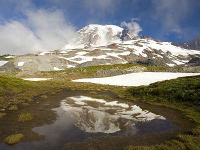 Mount Rainier Reflecting on Pond