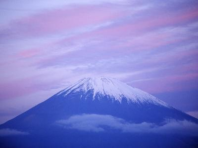 Snow-capped Mount Fuji at Sunset