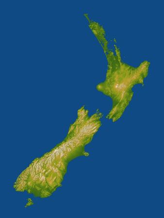 Topographic Image of New Zealand