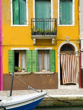 Colorful House on Burano Island