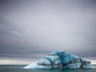Deep Blue Iceberg Near Brasvellbreen Glacier on Nordaustlandet