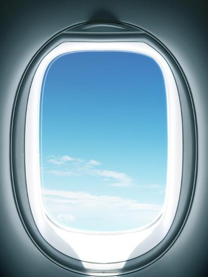 Close Up Of Airplane Window Photographic Print By Sung Il