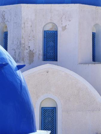 Windows and Arches of a Whitewashed Church