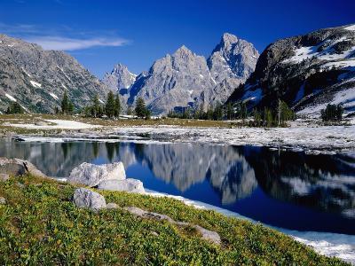 Grand Teton Behind Lake Solitude