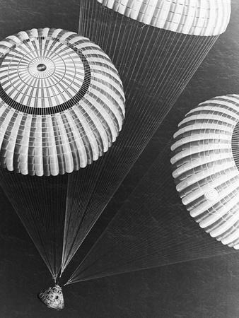 Apollo 17 Parachuting into Pacific