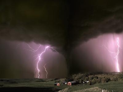 Farm Threatened by Tornado