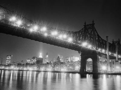 Queensboro Bridge and Manhattan at Night