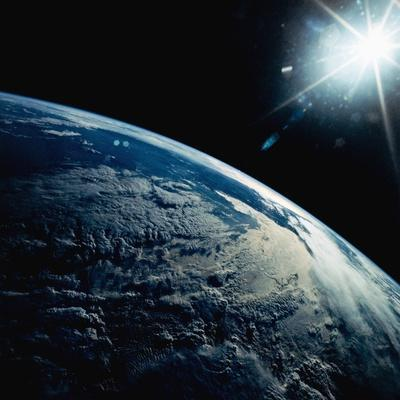 Earth Seen from Space Shuttle Discovery