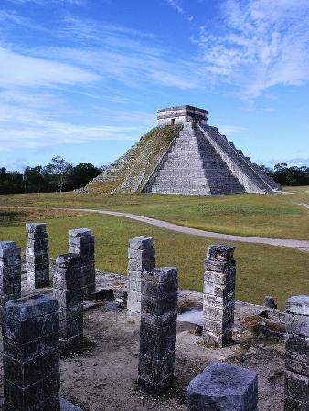 Pyramid of Kukulkan at Chichen-Itza