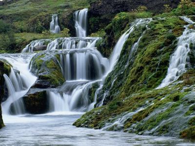 Waterfalls at Gjainfossar