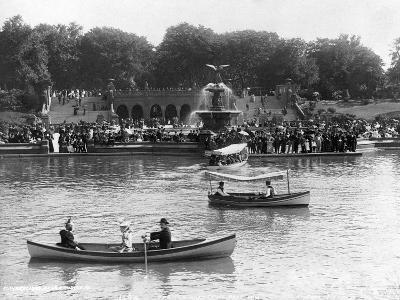 Boaters in Front of Bethesda Terrace, Central Park
