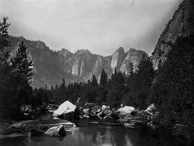 Merced River and Cathedral Rocks