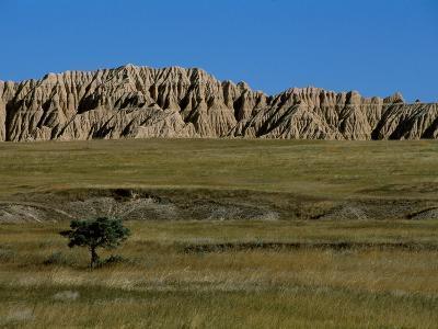 Landscape in Badlands National Park