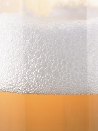 Close-up of a Glass of Lager