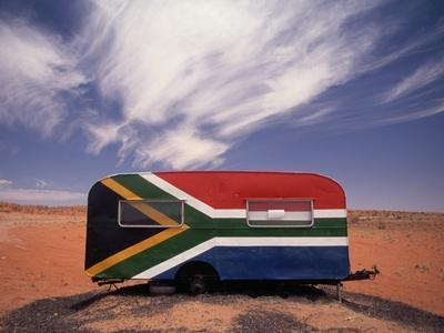 Food Trailer Painted with South African Flag Motif