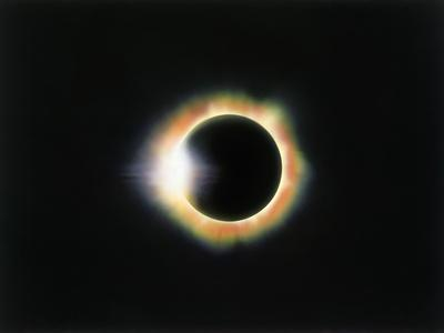 Eclipse with a Diamond Ring Effect