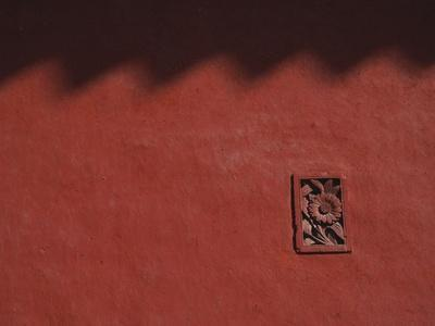 Brick Carving of Flowers on Forbidden City Wall