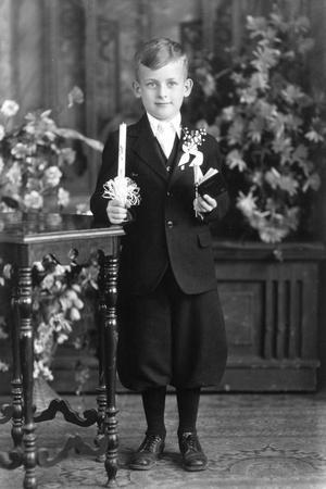 Boy at for His First Communion, Ca. 1933