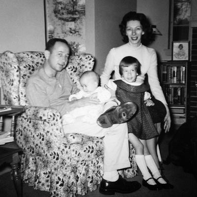 Family Group in their Living Room, Ca. 1958