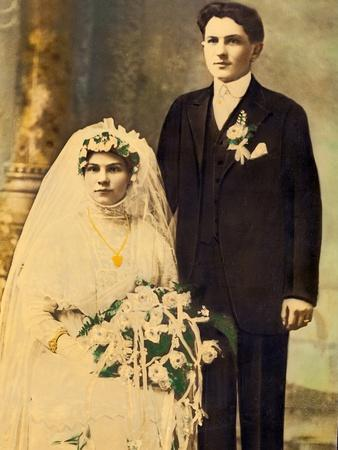 Husband and Wife in a Wedding Portait, Ca. 1916
