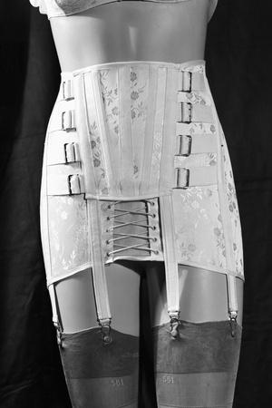 Girdle with Garters Displayed on Mannequin