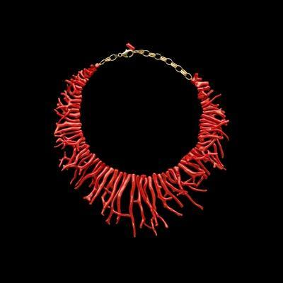 Coral Necklace with Natural Branches of Coral