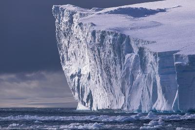 Tabular Iceberg in Bransfield Strait in Antarctica