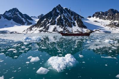 Tall Sailing Ship in Fjord, Svalbard