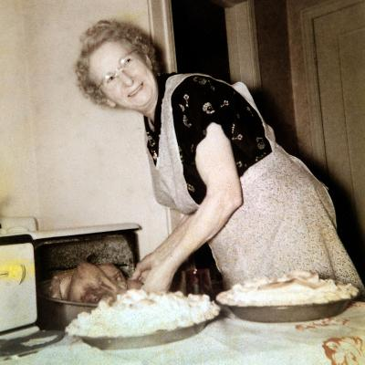Grandma Cooks in the Kitchen, Ca. 1952