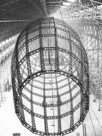 Burney Airship's Ribbed Frame