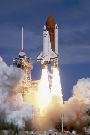 Space Shuttle Discovery Lifting Off