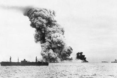 Hit on Naval Convoy, 1943