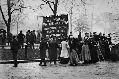 Demonstration by the Independent Labour Party, Ca.1893