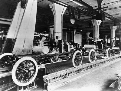 Model T Chassis in Highland Park Ford Plant
