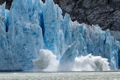 Icebergs Calving from Glacier, Alaska