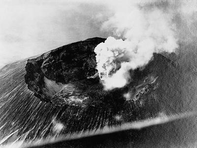 Smoke from Mount Vesuvius