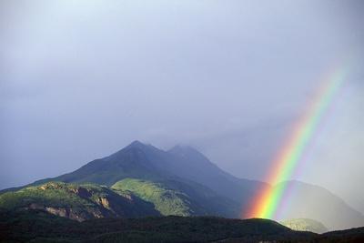 Rainbow over Alaskan Mountain