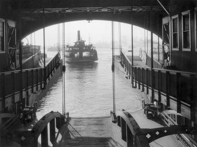 Ferry Landing in Manhattan