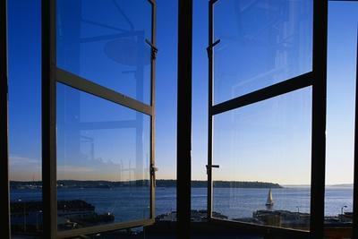 Elliott Bay from Pike Place Market Window