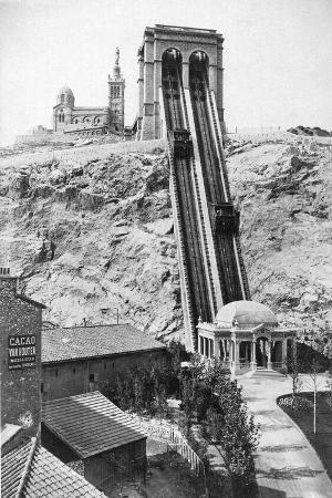 Funicular Railway to Notre Dame De La Garde, Marseille