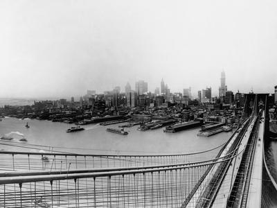 Lower Manhattan from the Top the Brooklyn Bridge