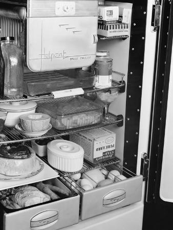 Interior of Hotpoint Refrigerator Prototype