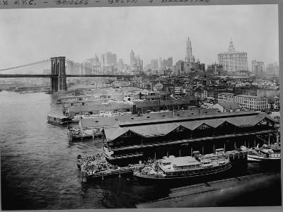 Piers by Brooklyn Bridge, New York